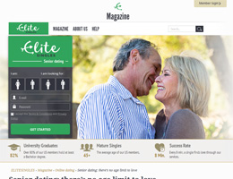 Elite Singles Review   Elite Dating for Mature Singles     for senior individuals who look for romantic relationships  and it is considered to be one of the most efficient senior dating site on the Internet